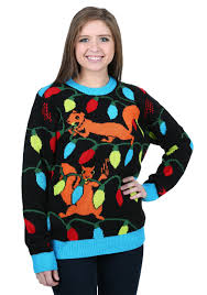 ugliest sweater squirrely lights sweater