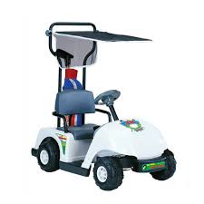 amazon com kid motorz junior 6v pro golf cart ride on white