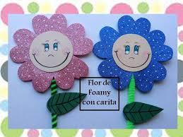 flores de foamy flor de foamy con carita sonriente youtube