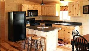 Knotty Kitchen Cabinets Rustic Knotty Pine Kitchen Cabinets Exitallergy Com