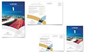 car insurance company postcard template design