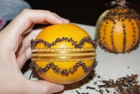 orange and clove pomander fall craft entirely smitten