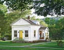 an old schoolhouse becomes a cozy cottage in the catskills