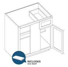 corner base cabinet for kitchen 48 base blind corner cabinet shakercabinetsupply