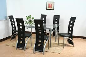 dinner table set dining room table sets with glass top pu gs 7068 dining table