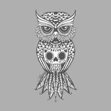 how to draw an owl and skull 8 owls