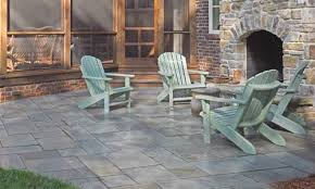 Diy Patio With Pavers A Paver Patio With A Glossy Finish
