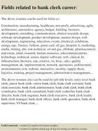 Clerical Sample Resume by Top 8 Bank Clerk Resume Samples