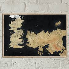 Map Of Westeros World by Westeros Mapprint Game Of Thrones Map Map Of Essos Game