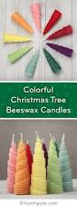 craft cottage colorful christmas tree beeswax candles