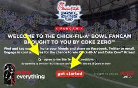 coke zero fan cam coke zero fancam fil a bowl sweepstakes cow locations