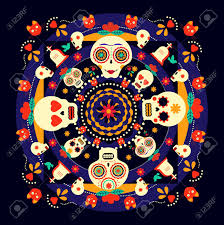 day of the dead decorations mexican day of the dead celebration happy skulls with