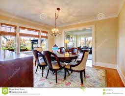 dard brown and yellow dining room royalty free stock photography