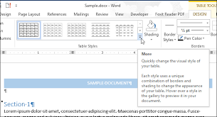 Change Table Style Word How To Add Borders To Or Change Borders On A Table In Word