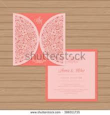 wedding invitation greeting card flower ornament stock vector