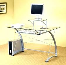 Buy Glass Computer Desk Glass Top Computer Desk Awesome Modern Glass Top Office Table