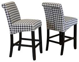 milan houndstooth linen counter chairs set of 2 bar stools and