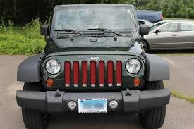 jeep bumper grill 2007 16 jeep wrangler jk mesh grill insert kit by customcargrills