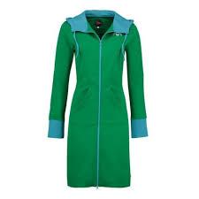 tante betsy betsy hoodie fit green retro lang grøn hættetrøje