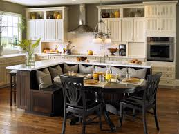 granite countertops kitchen island with built in seating lighting