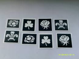 national emblems mixed stencils for etching scottish irish welsh