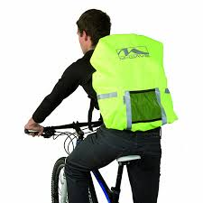 bike rain gear amazon com m wave hi vis rain cover neon yellow sports u0026 outdoors