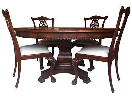 chair henredon banded crotch mahogany dining table at 1stdibs room