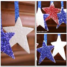 4th of july crafts make patriotic glitter stars