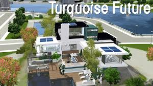 Home Design For The Sims 3 The Sims 3 House Building Turquoise Future Speed Build Youtube