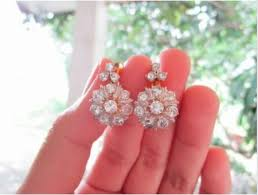diamond earrings philippines 3 81 carat diamond twotone earrings ring set 10k jewelry