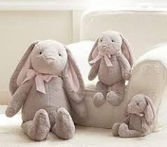stuffed bunnies for easter plush stuffed easter bunnies pottery barn kids