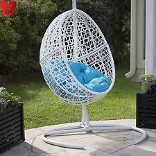 Patio Egg Chair Patio Chair Outdoor Furniture Egg Swing Black Cushion Wicker Porch