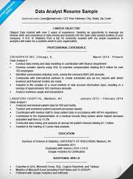 Cover Letter For A Resume Example by Data Analyst Cover Letter Sample Resume Companion