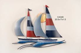 nautical colors sailboats nautical colors metal wall art shopbeachdecor com