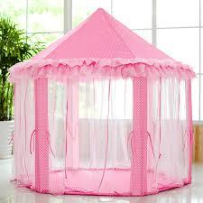 amazon com skyeyarc princess playhouse with lace pink tent