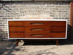 amazing mid century modern credenza with three storage cabinet and