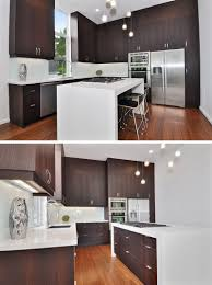 black kitchen cabinets with white countertop 9 inspirational kitchens that combine wood cabinetry