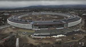 apple u0027s spaceship campus gets closer to launch in latest drone vid