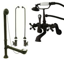 Oil Rubbed Bronze Clawfoot Tub Faucet Oil Rubbed Bronze Wall Mount Clawfoot Bath Tub Faucet W Hand