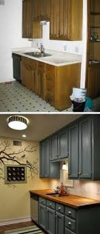 small kitchen makeovers ideas before and after teeny tiny kitchen cheap makeover what an amazing