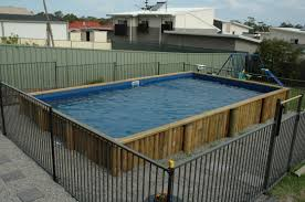 Ground Pool With Deck B