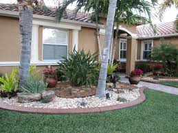 front yard landscaping ideas with rocks christmas lights decoration