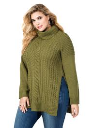 plus size cable knit sweater plus size cable knit turtleneck sweater 042 6ad18xx