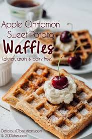 apple cinnamon sweet potato waffles gluten grain and dairy free
