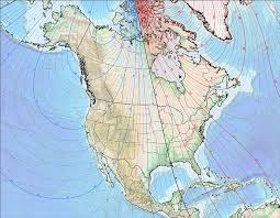 magnetic declination map references for navigating with map compass and gps