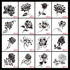sale 2016 fashion black small waterproof temporary tattoos