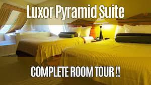 One Bedroom Luxury Suite Luxor Luxor Pyramid Suite Tour Youtube