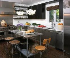 metal island kitchen kitchen stainless steel kitchen island table on kitchen with