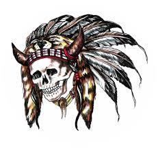 indian skull indian skull tattoos designs