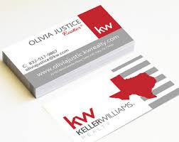 Keller Williams Business Cards Real Estate Business Cards Red Door Lion By Realestatedesigns